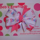 Happy Birthday Large Boutique Bow