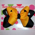 Black & Gold Large Boutique Bow