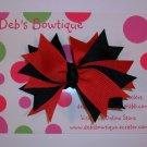 Red & Black Twist Bow