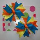 Blue/Orange/Yellow Pigtail Set