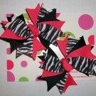 Hot Pink/Black/Zebra Pigtail Set