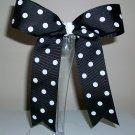 Black w/Dots Cheer Bow