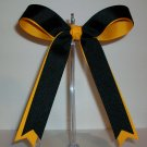 Black/Gold Cheer Bow