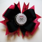 Skull with Bow Bottle Cap Bow