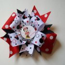 Personalized Minnie Bottle Cap Bow