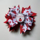 Love Bug Bottle Cap Bow