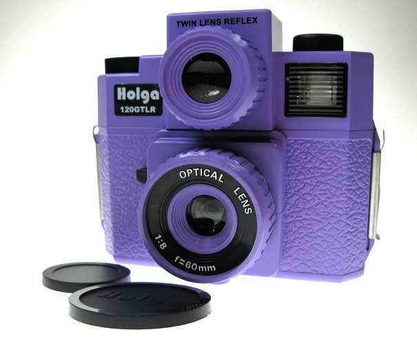 Sales - HOLGA 120GTLR Twin-Lens Reflex Camera - Purple Colour ** Free Shipping