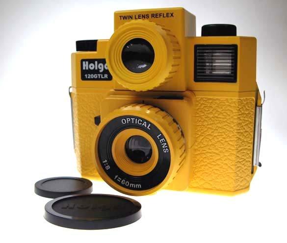 SALES - HOLGA 120GTLR Twin-Lens Reflex Camera - Yellow Colour ** Free Shipping