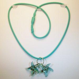 Aqua Starfish Necklace/Bracelet. Check Our Store twodotts.ecrater.com