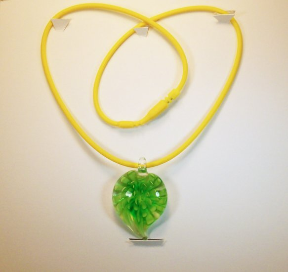 Green Flower Pendant Necklace/Bracelet.  Check Our Store twodotts.ecrater.com