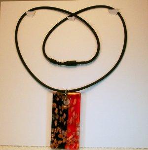 Red & Black Glass Pendant Necklace/Bracelet. Check Our Store twodotts.ecrater.com