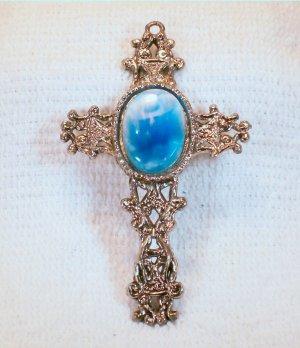 Vintage Cross Pendant.  Check Our Store twodotts.ecrater.com