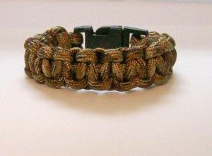Brown Camouflage Paracord bracelet.
