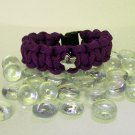Purple Paracord Bracelet with star accent bead.