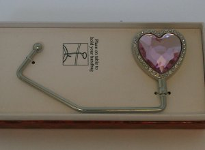Pink Heart Purse Caddy, Check our store twodotts.ecrater.com