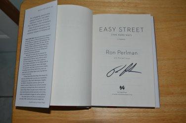 Ron Perlman SIGNED AUTOGRAPH The Hard Way A Memoir