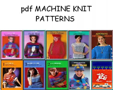 Motifs Lace Intarsia Patterns for Electronic Knitting Machines on CD
