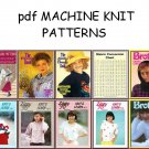 Bulky Knitting Machine Punchcard & Electronic Pattern Books on CD