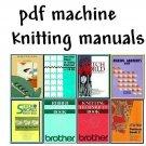 Brother KH-950i & Stitchworld Knitting Machine Manuals including DAK all on DVD