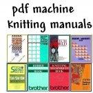 Brother KH-965i/Compuknit V & Stitchworld Knitting Machine Manuals + DAK on DVD