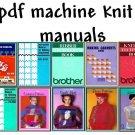 Brother KH-910/CompuKnit II Knitting Machine Manuals & Pattern books on DVD
