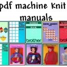 Brother KH-900/CompuKnit ST Knitting Machine Manuals & Pattern books on DVD