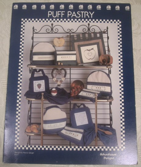 SCHOOLHOUSE DESIGNS PUFF PASTRY CROSS STITCH BOOK *SHIPS FREE*