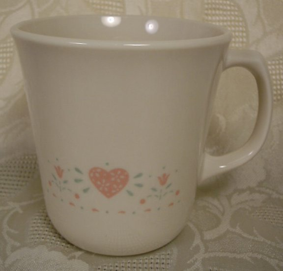 CORNING CORELLE FOREVER YOURS TAPERED MUGS SET OF 4
