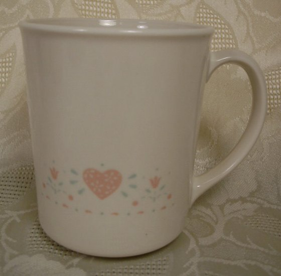 CORNING CORELLE FOREVER YOURS STRAIGHT SIDED MUGS