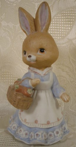 ENESCO PORCELAIN MISS BUNNY RABBIT FIGURINE 1979 *SHIPS FREE*