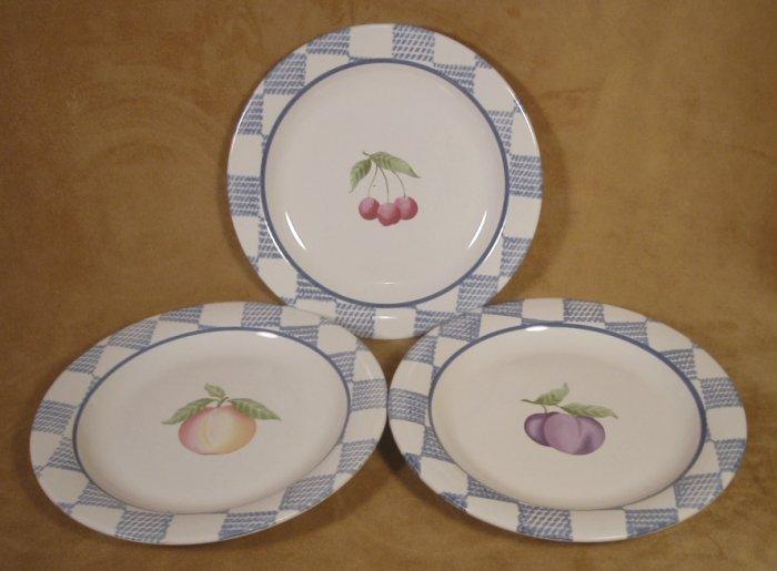 PFALTZGRAFF HOPSCOTCH  SALAD PLATES SET OF 3