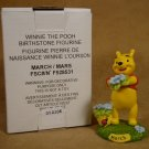 DISNEY WINNIE THE POOH MARCH BIRTHSTONE FIGURINE *SHIPS FREE*