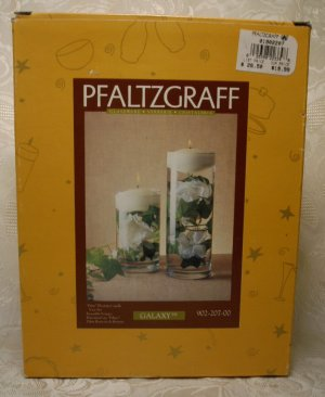 PFALTZGRAFF GALAXY PILLARS - FLOATING CANDLE VASE SET
