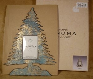"""SONOMA RUSTIC CHRISTMAS TREE PHOTO FRAME 2"""" X 3"""" *NIB* *SHIPS FREE*"""