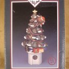 HANDPAINTED PORCELAIN CHRISTMAS TREE NIGHT LIGHT W/LIGHT SENSOR