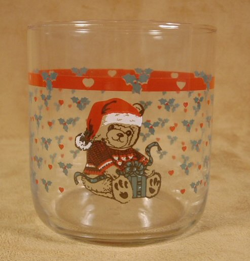 TIENSHAN CHRISTMAS COUNTRY BEAR JUICE ROCKS GLASSES - SET OF 4