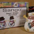 SANGO SWEET SHOPPE CHRISTMAS SALT & PEPPER SET *NIB*
