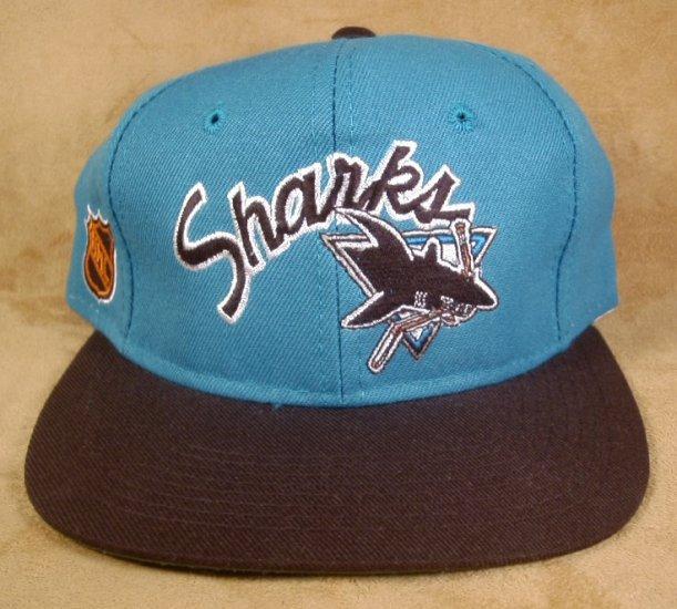 NHL CENTER ICE BASEBALL HAT SAN JOSE SHARKS NWT SIZE 7 *SHIPS FREE*