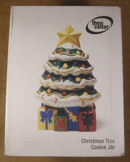 THE CELLAR CHRISTMAS TREE COOKIE JAR *MIB* 2002