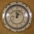 VERMONT MOUNTAINE MEADOWS POTTERY WALL CLOCK 1995