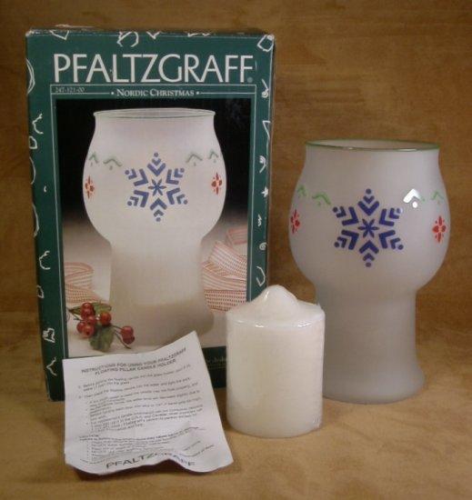PFALTZGRAFF NORDIC CHRISTMAS FLOATING CANDLE JAR *MIB