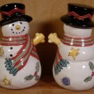 SANGO SWEET SHOPPE CHRISTMAS SNOWMAN SALT & PEPPER SET