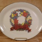 HOME & GARDEN PARTY HOLIDAY WREATH OVAL SERVING PLATTER