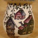 HOME & GARDEN PARTY BIRDHOUSE MED. SPOON JAR CROCK USA