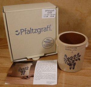 PFALTZGRAFF 2004 MINI BICENTENNIAL CROCK W/COA *NIB*