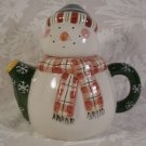 SAKURA DEBBIE MUMM SNOWMAN HOLIDAY TEA FOR ONE TEAPOT