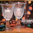 ST. GEORGE FINE LEAD CRYSTAL HURRICANES SET OF 2 *MIB*