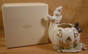 LENOX OCCASIONS� GHOST W/PUMPKIN VOTIVE TEALIGHT *MIB*