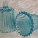 HOME INTERIOR ICE BLUE STARBURST RIBBED VOTIVE CUPS HOLDERS PEGLITES