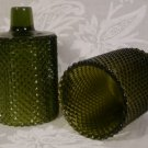 DECORAMA INC. GREEN MINI-DIAMOND VOTIVE CUPS HOLDERS PEGLITES *EUC*